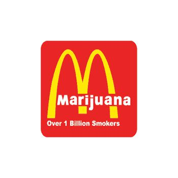 Tee shirt Marijuana parodie Mc Donald's